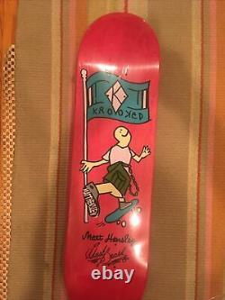 Krooked Skateboards Matt Hensley Guest Board Toute Nouvelle Collection D'art Rare