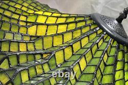 Make Offer Daysrare Vintage Meyda Lotus Leaf Shade Withstain Glass Base