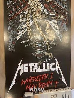 Metallica Rhys Cooper Poster Imprimé Rare Vendu Limité Où Que Je Sois