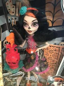 Monster High Art Class Skelita Calaveras Doll & Accs-nib-rare & Hard To Find 6+