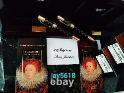 Montblanc Elizabeth I Patron Art Le 4810 F. Pen Ultra Rare Set Neuf, Or