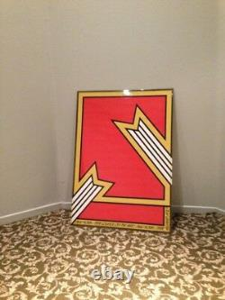Nicholas Krushenick Op Art Pop Art Color Field New York Artiste 1970 Affiche Rare