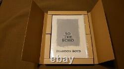 Nouveau Brandon Boyd Donc L'echo Hard Cover Livre Incubus Rare Art Vellum Dust Jacket