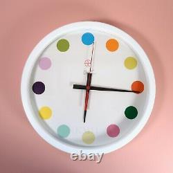 Nouveau Damien Hirst Spot Clock Large Face 35cm Rare Art Autres Critères Horloge Murale
