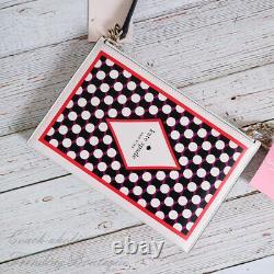 Nwt Kate Spade New York Lucky Draw Card Leather Crossbody Rare