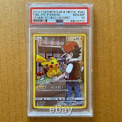 Pikachu Full Art Secret Rare 241/236 Psa 10 Pokemon Cosmic Eclipse Gem Mint