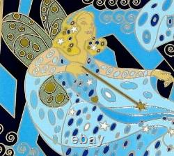 Pinocchio Blue Fairy Le Jumbo Disney Pin Art Nouveau Easel Gustav Klimt Rare Nouveau