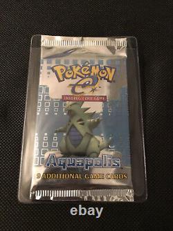 Pokemon E-reader Aquapolis Tyranitar Art Rare Booster Pack! Usine Scellée