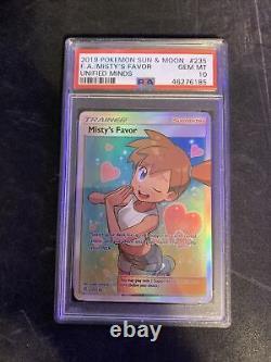 Pokemon Misty's Favor 235/236 Full Art Holo Rare Unified Minds Psa 10 Gem Mint