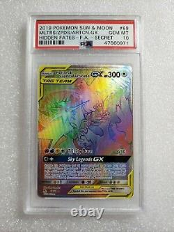 Pokemon Moltres Zapdos Articuno Full Art Secret Rare Hidden Fates Psa 10 Menthe