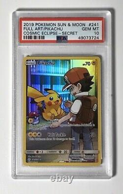 Pokemon Psa 10 Reds Pikachu Cosmic Eclipse Full Art Secret Rare Card