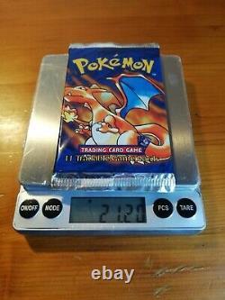 Pokemon Shadowless Heavy 21.16 Grammes Base Set Booster Pack Charizard Art