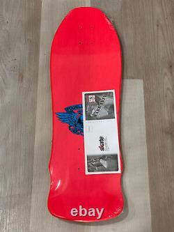 Powell Peralta Pink Skull & Sword Geegah Rare Skateboard Deck Nouveau