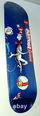 Presque Dr. Seuss Cat Ball One Fish Rodney Mullen Skateboard Deck 7.87 R7 Rare