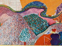 Rare 1980 David Hockney Gravure Sur Collotype Lacma Affiche Mulholland Drive