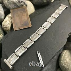 Rare Art Déco Sterling Silver 1930s Vintage Watch Band 5/8 Nos Amcraft USA