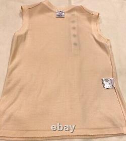 Rare Chanel 09a Ecru Cashmere Boutons Impériaux Top Shirt Pour Veste 38 Nouveau