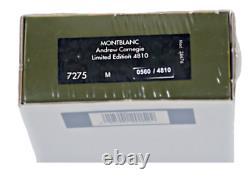 Rare Montblanc Scellé Andrew Carnegie Patron Des Arts Le 4810 Fountain Pen 2002