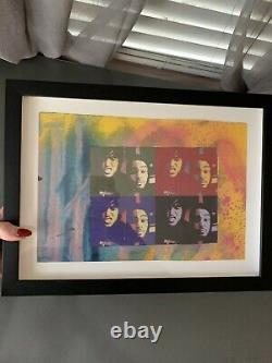 Rare Original Pete Wentz Tomber Garçon Et Travis Mccoy Art Piece
