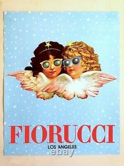 Rare Original Vintage 1980 Affiche De Mode Fiorucci Los Angeles New Wave