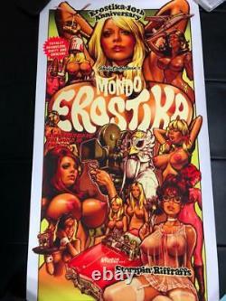 Rockin' Jelly Bean Art Mondo Erostica Affiche D'écran En Soie 100 Limited Rare 3ème