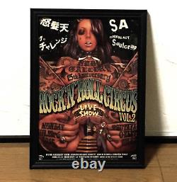 Rockin Jelly Bean Rude Gallery Rock'n'roll Circus Vol. 2 Affiche De Flyer Encadrée Rare
