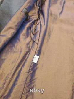 Schott Nyc Single Rare Vt Leather P-coat Newithtags Made In USA Grande Vente D'échantillons