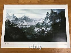 Scrolls Anciens Skyrim Realm Of The Dragonborn Limited Lithographie Reproduction D'art Rare