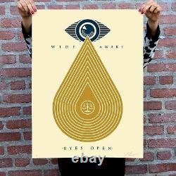 Shepard Fairey (obey) Rare Édition Limitée Edition Imprimée À L'échelle De Réveillez-vous (marque Nouvelle)