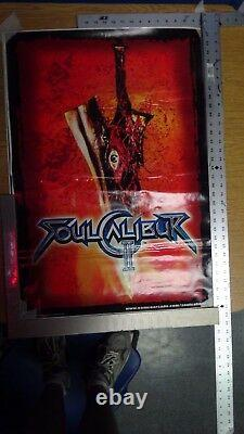 Soul Calibur 2 Arcade Video Game Side Art-set De 2-new Orignal-not Repro- Rare
