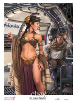 Star Wars Slave Leia Fine Art Print His Vision Returns Artist Proof Signed Rare