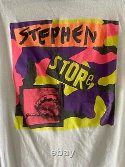 T-shirt Stephen Sprouse Super Rare Avec Imprimé Camouflage Andy Warhol Vintage 1987
