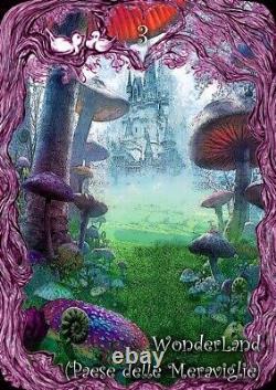 Tarot Alice In Wonderland Carte D'art Deck Rare Édition Originale Fait À La Main En Italie