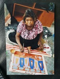 Ultra Rare Mitjili Naparrula Painting & Coa Avec Photos De Travail 2010