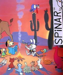 Western Jamboree Hanna Barbera Animation Art Peint À La Main Cel. Signé Mint Rare