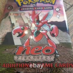 Wotc 2001 Pokemon Neo Discovery Booster Pack D'art Scizor Scellé En Usine